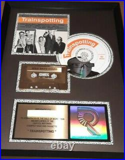 TRAINSPOTTING Soundtrack Very Rare Original RIAA Gold Record Album Sales Award