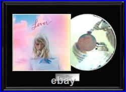 Taylor Swift Lover White Gold Platinum Tone Record Lp Album Non Riaa Award