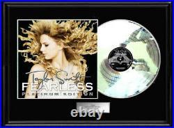 Taylor Swift White Gold Platinum Tone Record Fearless Album Rare Non Riaa Award