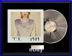 Taylor Swift White Gold Silver Tone Record Lp 1989 Album Rare Non Riaa Award