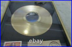 Ted Nugent RIAA Certified Gold Record award for Scream Dream Epic Records 1980