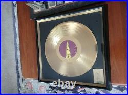 Temptations Masterpiece Original Disk Award Limited Gold Record