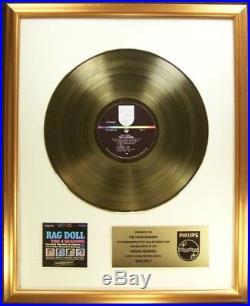 The 4 Four Seasons Rag Doll LP Gold Non RIAA Record Award Philips Records