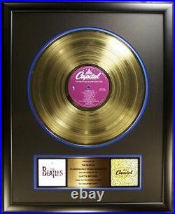 The Beatles 20 Greatest Hits LP Gold Non RIAA Record Award Capitol Records