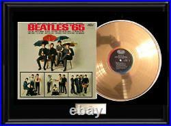 The Beatles'65 Gold Metalized Vinyl Record Lp 1965 Album Non Riaa Award Rare