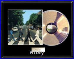 The Beatles Abbey Road Lp Album White Gold Platinum Tone Record Non Riaa Award