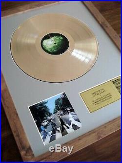 The Beatles Abbey Road Lp Gold Disc Record Album Award