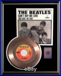 The Beatles Can't Buy Me Love Rare Gold Record Award Disc 45 RPM & Sleeve