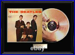 The Beatles Gold Metalized Record Rare Introducing Vee Jay Lp Non Riaa Award