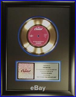 The Beatles Got To Get You Into My Life 45 Gold Non RIAA Record Award Capitol