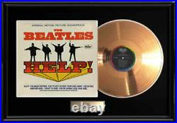The Beatles Help Gold Metalized Vinyl Record Lp 1965 Album Not An Riaa Award