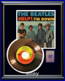 The Beatles Help Gold Metalized Vinyl Record Rare 45 Pm Non Riaa Award