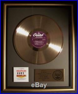 The Beatles Help! Soundtrack LP Gold RIAA Record Award Capitol Records