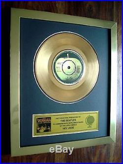 The Beatles Hey Jude 24kt Gold Record Disc Award 7 Single