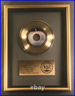 The Beatles I Want To Hold Your Hand 45 Gold RIAA Record Award Apple Records
