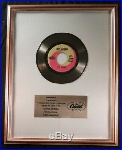 The Beatles Lady Madonna 45 Gold Non RIAA Record Award Capitol Records