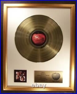 The Beatles Let It Be Soundtrack LP Gold Non RIAA Record Award Apple Records
