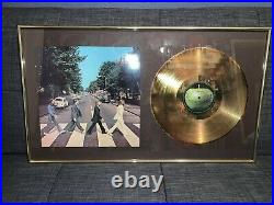 The Beatles Rare Abbey Road Gold Record Award AWESOME Wall Display Limited