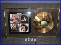 The Beatles Rare Let It Be Gold Record Award AWESOME Wall Display Limited