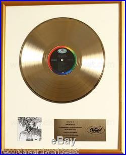 The Beatles Revolver LP Gold Non RIAA Record Award To Beatles