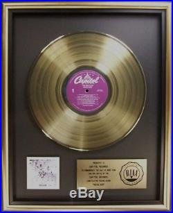 The Beatles Revolver LP Gold RIAA Record Award Capitol Records To Capitol