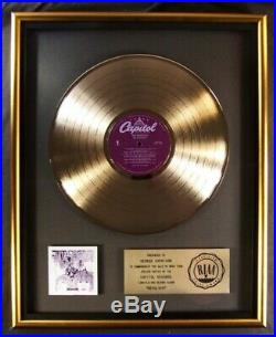 The Beatles Revolver LP Gold RIAA Record Award To Capitol Records To George