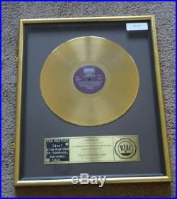 The Beatles Riaa Gold Record Award Disc Live in Hamburg Goldene Schallplatte Rar