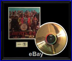 The Beatles Sgt. Pepper Lonely Hearts 1967 Lp Gold Record Non Riaa Award Disc