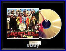 The Beatles Sgt. Pepper Rare Framed Gold Metalized Record Lp Non Riaa Award