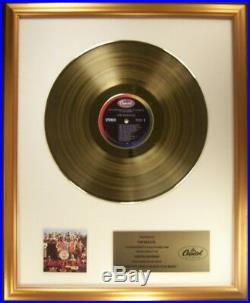 The Beatles Sgt. Pepper's Lonely Hearts Club Band LP Gold Non RIAA Record Award