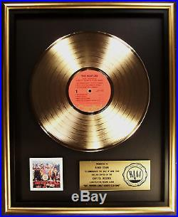 The Beatles Sgt. Pepper's Lonely Hearts Club Band LP Gold RIAA Record Award