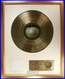 The Beatles The Beatles White Album LP Gold Non RIAA Record Award Apple Records