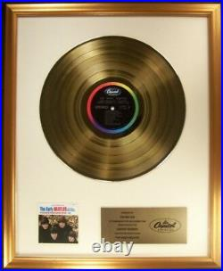 The Beatles The Early Beatles LP Gold Non RIAA Record Award Capitol Records