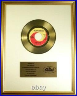 The Beatles Yellow Submarine 45 Gold Non RIAA Record Award Capitol Records