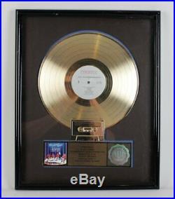 The California Raisins Gold Record Award