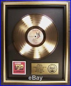 The Doors L. A. Woman LP Gold RIAA Record Award Elektra Records To Ray Manzarek