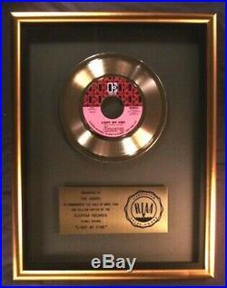 The Doors Light My Fire 45 Gold RIAA Record Award Elektra Records To Doors