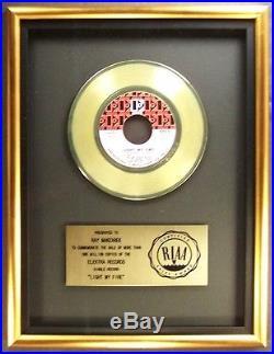 The Doors Light My Fire 45 Gold RIAA Record Award Elektra Records XMAS SALE