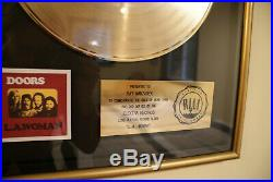The Doors RIAA Gold Record award Ray Manzarek + Original Jim Morrison photo