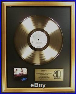The Eagles Hotel California LP Gold Non RIAA Record Award Asylum Records