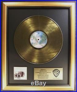 The Grateful Dead Workingman's Dead LP Gold Non RIAA Record Award Warner Bros