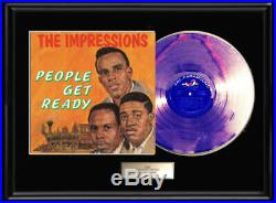 The Impressions People Get Ready Lp Gold Metalized Record Album Non Riaa Award