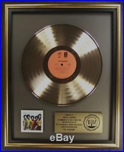 The Jacksons The Jacksons LP Gold RIAA Record Award To Jackie Jackson