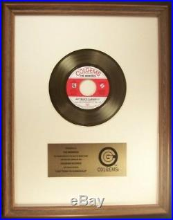 The Monkees Last Train To Clarksville 45 Gold Non RIAA Record Award Colgems