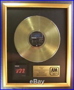 The Police Ghost In The Machine LP Gold Non RIAA Record Award A&M Records