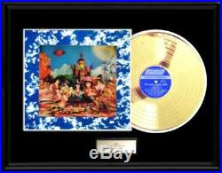 The Rolling Stones 3d Satanic Album Lp Gold Metalized Record Rare Non Riaa Award