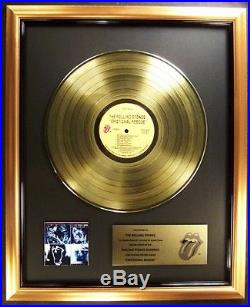 The Rolling Stones Emotional Rescue LP Gold Non RIAA Record Award To Stones