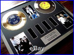 The Rolling Stones Gold Platinum Disc Single Record Film Cell Montage Award
