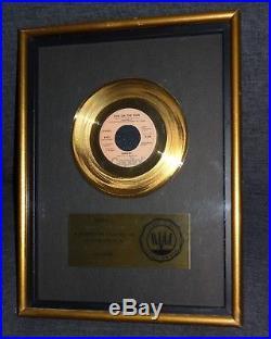 The Sweet Fox on the run Riaa Gold Record Award Disc Original No Bpi beautiful