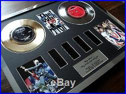The Who 7 Single Gold Platinum Disc Record & Film Cell Award Display Montage
